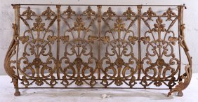19th Cent. French Cast Iron Balcony Panel