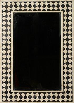 Tessellated Bone Mirror Frame Beveled Mirror