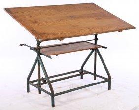 Labeled Lutz Ferrando Cast Iron Drafting Table