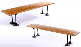 Vintage Athletic Benches Yale University 1940