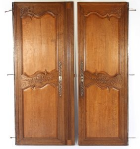 Pair 19th Cent. Carved Cupboard Doors