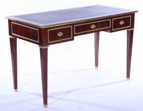 Bronze Mounted Mahogany French 3 Drawer Desk 1940