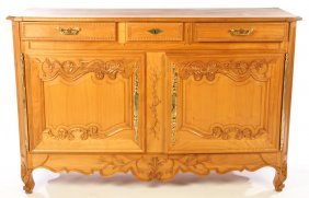 Carved French Provincial Cherry Sideboard