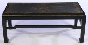 Mid Century Modern Ebonized Coffee Table Eglomise