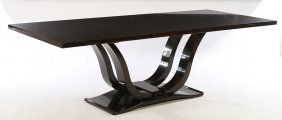 Large Art Deco Style Macassar Dining Table
