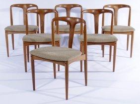 6 Oak Danish Chairs Johannes Anderson 1965