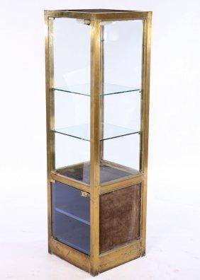 Mid Century Bronze Vitrine 2 Doors 1960