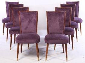 Set Of 8 Mid Century Modern Italian Dining Chairs