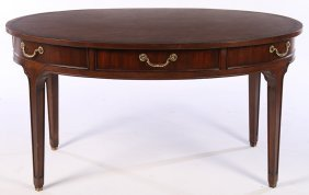 Regency Style Writing Desk Inset Leather Top
