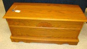 Carved Oak Cedar Chest