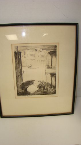 European Venice Scened Limited Edition Etching