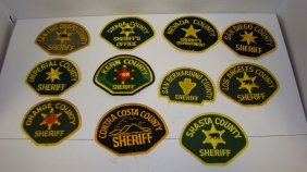 11 Various California County Sheriff's Shoulder P