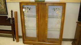 Vintage Veneer 2 Door Display Case