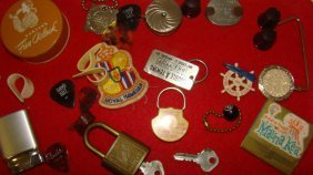 Various Vintage Key Chains & Collectibles