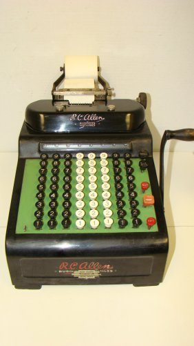 Vintage R.c. Allen No. 805 Adding Machine