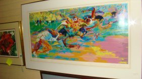 Lg Leroy Neiman Hand Signed Color Serragraph