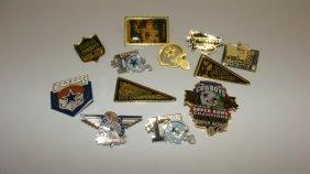 12 Various Dallas Cowboys Lapel Pins