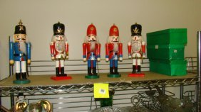 5 Christmas Soldier Nut Crackers