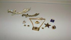 11 Various Masonic & Eastern Star Pins