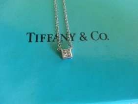 Tiffany & Co Platinum Diamond Necklace