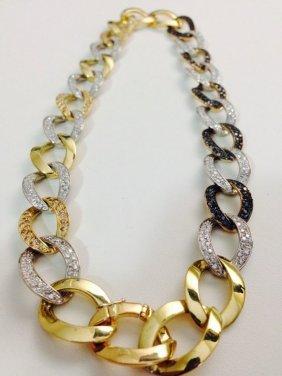18k Gold Diamond Bracelet / Necklace