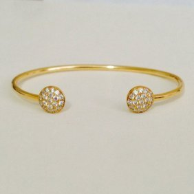 18k Gold Diamond Bangle
