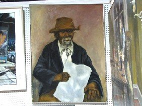 "ALFONSO HUDSON PAINTING ""PHILADELPHIA SOUTHERNER"""