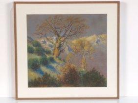 WILLIAM SAMUEL HORTON PASTEL LANDSCAPE W/ TREES