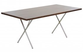 George Nelson For Herman Miller X-base Dining Table