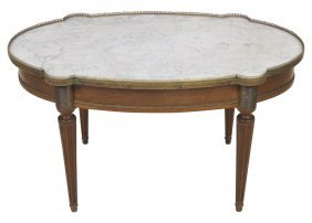 Jansen Style Bronze Mounted Marbletop Coffee Table