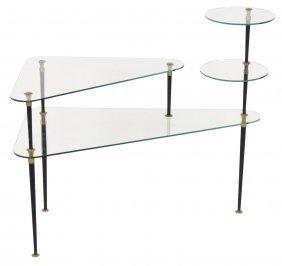 Italian Modern 3 Tier Glass Table