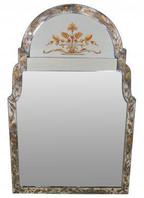 Jansen Eglomised Framed Hanging Mirror