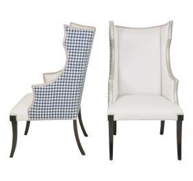 Pair Darya Regency Style Wingback Chairs