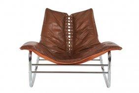 Danish Leather Lounge Chair