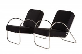 Richard Neutra Attributed Patio Chairs (2)