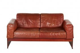 Tito Agnoli Leather Sofa