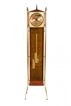 George Nelson Swag-leg Grandfather Clock
