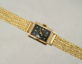 """14K YG LeCoultre Ladies Bracelet Watch, 6 7/8"""" Long"""