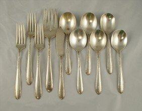 11 Pcs Heirloom Heiress Sterling Silver Flatware,