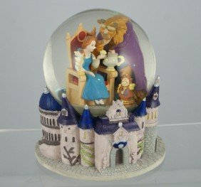 "Beauty And The Beast Musical Snow Globe, ""Beauty"
