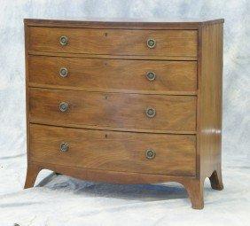 Mahogany Georgian Bowfront 4 Drawer Hepplewhite C