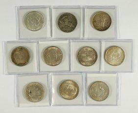 10 Different Commemorative Halves All Nice EF/AU+