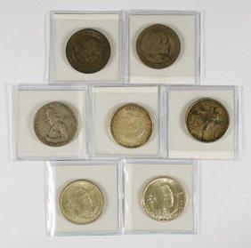 7 Different Commemorative Halves Mostly VF/EF, 18