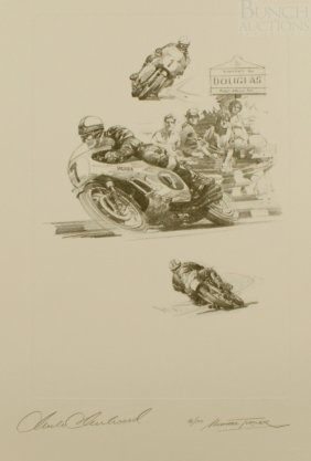 Michael Turner, English, LE Lithograph On Donningt