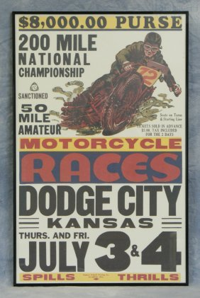 Motorcycle Races Dodge City Kansas July 3&4 Poster,