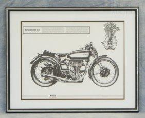 "Norton 350/500 1937 Print, 19"" X 24"""