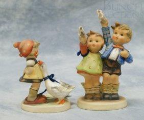 "(2) Hummel Figurines ""Goose Girl"" No 47 3/0, 4"" T"