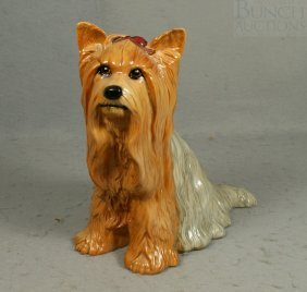 "Beswick Yorkie Figurine, 10"" Tall"