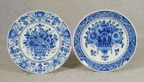 2 Royal Delft Plates, Artist NvC, OSH, C 1961-62,
