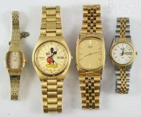 2 Men's & 2 Ladies Seiko Wrist Watches, One With